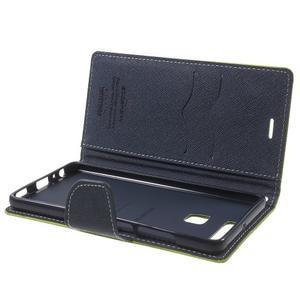 Diary PU kožené pouzdro na mobil Huawei P9 - zelené - 6
