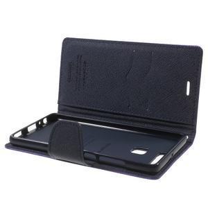 Diary PU kožené pouzdro na mobil Huawei P9 - fialové - 6