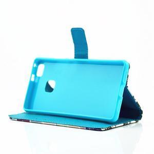 Knížkové pouzdro na mobil Huawei P9 Lite - kapky vody - 6