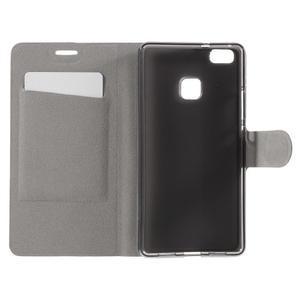 Horse PU kožené puzdro na mobil Huawei P9 Lite - rose - 6
