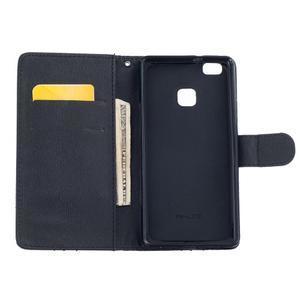 Peněženkové PU kožené pouzdro na Huawei P9 Lite - nešahej na můj telefon - 6