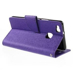 Easy peňaženkové puzdro na mobil Huawei P9 Lite - fialové - 6
