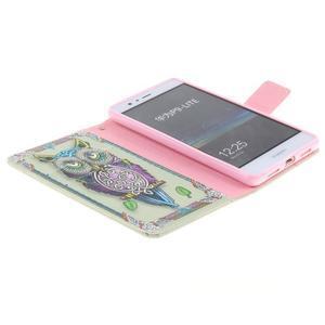 Floaty peněženkové pouzdro na mobil Huawei P9 Lite - sovička - 6