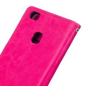 Wall PU kožené pouzdro na Huawei P9 Lite - rose - 6