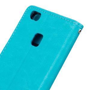 Wall PU kožené puzdro na Huawei P9 Lite - modré - 6