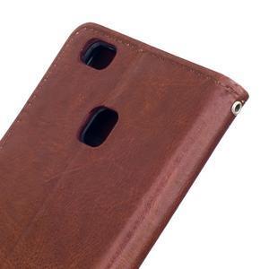 Wall PU kožené pouzdro na Huawei P9 Lite - hnědé - 6