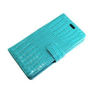 Croco peněženkové pouzdro na mobil Huawei P9 Lite - modré - 6
