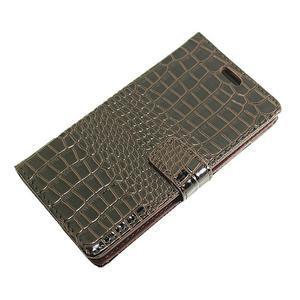 Croco peněženkové pouzdro na mobil Huawei P9 Lite - hnedé - 6