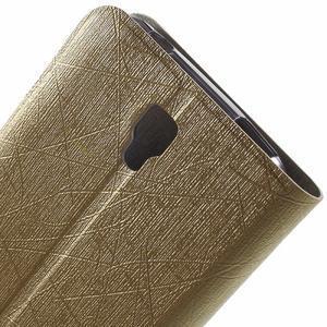 Lines knížkové pouzdro na Huawei Y5 a Y560 - zlaté - 6