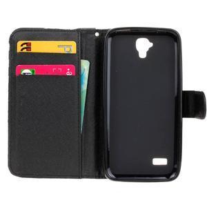 Stylové peněženkové pouzdro na Huawei Y5 a Y560 - žirafí mafie - 6