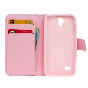 Štýlové peňaženkové puzdro na Huawei Y5 a Y560 - sovia rodinka - 6