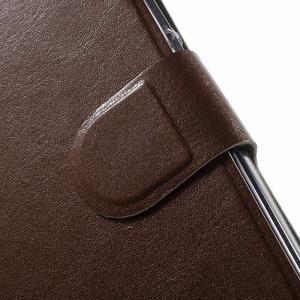 Horse peněženkové pouzdro na mobil Huawei Y5 a Y560 - hnědé - 6