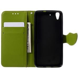 Leaf PU kožené pouzdro na mobil Huawei Y6 - hnědé - 6