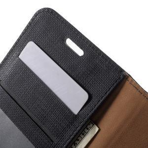 Clothy PU kožené pouzdro na Huawei Y6 - černé - 6