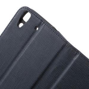 Clothy PU kožené pouzdro na Huawei Y6 - tmavěmodré - 6