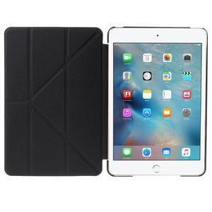 Origami polhovatelné pouzdro na iPad mini 4 - černé - 6