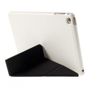 Origami polhovatelné pouzdro na iPad mini 4 - bílé - 6