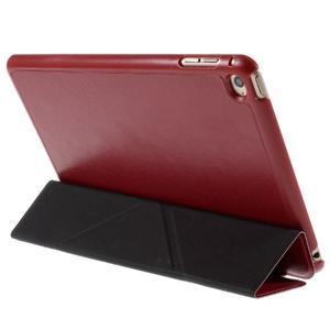 Origami polohovateľné puzdro pre iPad mini 4 - červené - 6