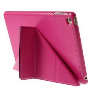 Origami polohovateľné puzdro pre iPad mini 4 - rose - 6