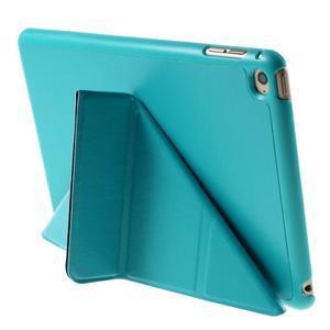 Origami polohovateľné puzdro pre iPad mini 4 - svetlomodré - 6