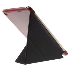 Origami polhovatelné pouzdro na iPad mini 4 - hnědé - 6