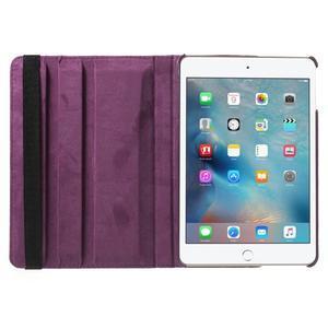 Cyrc otočné puzdro pre iPad mini 4 - fialové - 6