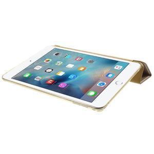 Trifold trojpolohové pouzdro na tablet iPad mini 4 - zlaté - 6