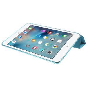 Trifold trojpolohový puzdro pre tablet iPad mini 4 - modré - 6
