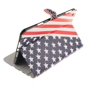 Standy puzdro pre tablet iPad mini 4 - US vlajka - 6