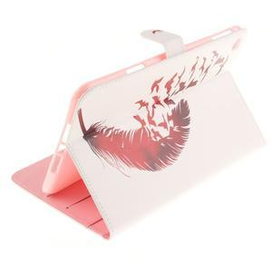 Standy pouzdro na tablet iPad mini 4 - ptačí peříčko - 6
