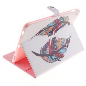 Knížkové pouzdro na tablet iPad Pro 9.7 - barevní peříčka - 6