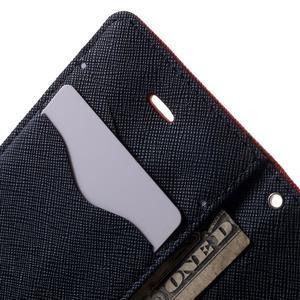 Fancys PU kožené puzdro pre iPhone 4 - červené - 6