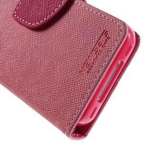 Fancys PU kožené puzdro pre iPhone 4 - ružové - 6