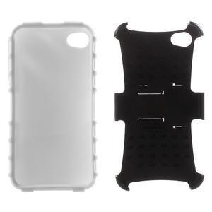 Outdoor odolný obal pre mobil iPhone 4 - biele - 6