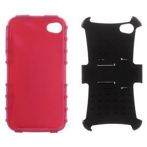 Outdoor odolný obal na mobil iPhone 4 - rose - 6