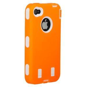 Armor vysoce odolný obal pre iPhone 4 - oranžový - 6