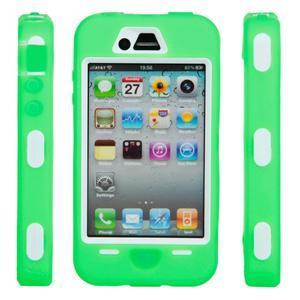 Armor vysoce odolný obal na iPhone 4 - zelený - 6