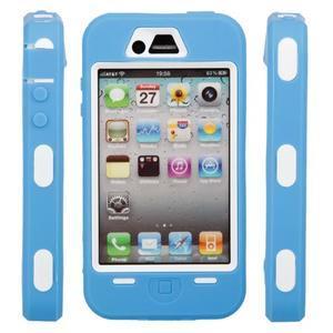 Armor vysoce odolný obal na iPhone 4 - modrý - 6