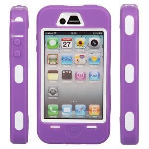 Armor vysoce odolný obal na iPhone 4 - fialový - 6