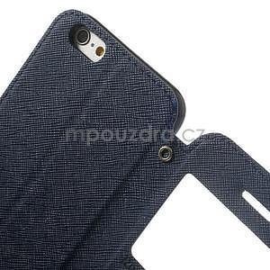 Peňaženkové puzdro s okienkom na iPhone 6 a 6s - tmavomodré - 6