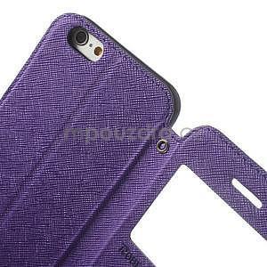Peňaženkové puzdro s okienkom na iPhone 6 a 6s - fialové - 6