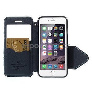 Peňaženkové puzdro s okienkom na iPhone 6 a 6s - svetlomodré - 6