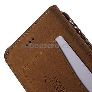 Klopové puzdro pre iPhone 6 a iPhone 6s - hnedé - 6