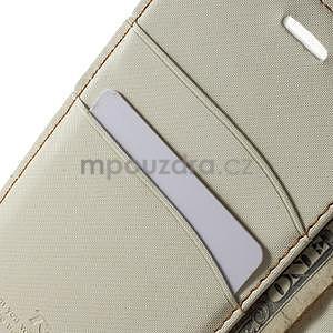 Peňaženkové koženkové puzdro na iPhone 6s a 6 - biele - 6