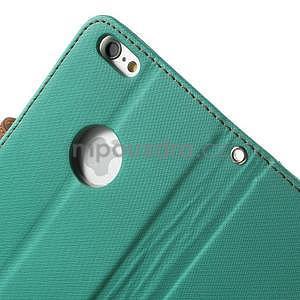 Peňaženkové koženkové puzdro na iPhone 6s a 6 - zelené - 6
