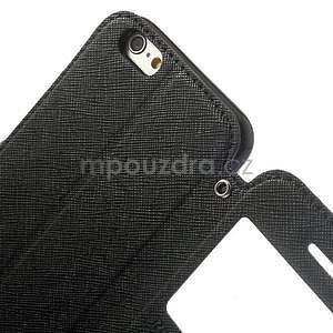 Peňaženkové puzdro s okienkom na iPhone 6 a 6s - čierne - 6