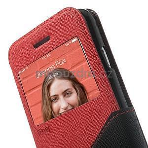 Peňaženkové puzdro s okienkom na iPhone 6 a 6s - červené - 6