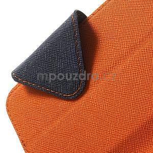 Peňaženkové puzdro s okienkom na iPhone 6 a 6s - oranžové - 6