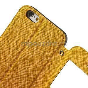 Peňaženkové puzdro s okienkom na iPhone 6 a 6s -  žlté - 6