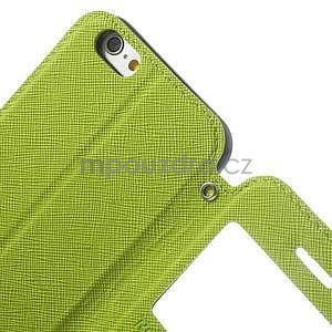 Peňaženkové puzdro s okienkom na iPhone 6 a 6s - zelené - 6